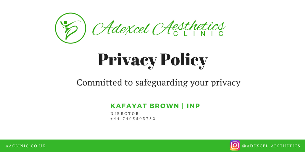 Adexcel Aesthetics Clinic Privacy Policy